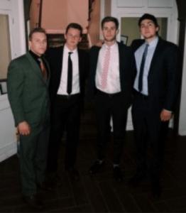 L-R: Dominic Collins, Rush Chairman and Treasurer; Pete Slaats, Eminent Commander; Gabe von Ruden, Lieutenant Commander; and Brock Bauer, Marshal