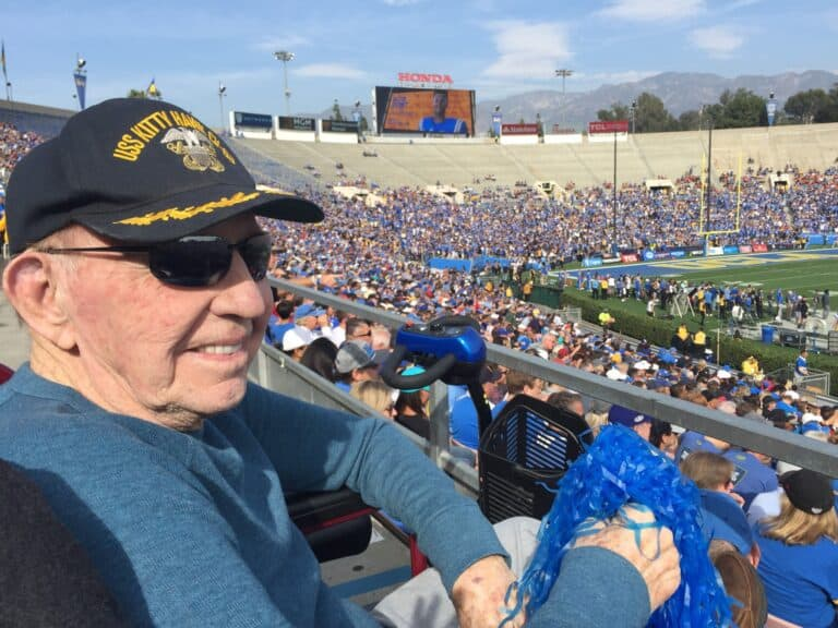 Captain Coffee at the Rose Bowl